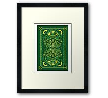 Card Back - Hylian Court Legend of Zelda Framed Print