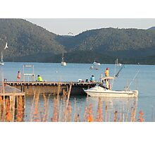 Gone Fishing - Shute Harbour,  Qld. Photographic Print