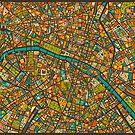 Paris Map by JazzberryBlue
