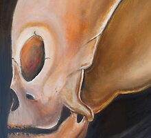 Grey Alien Skull Scully by nategradyart