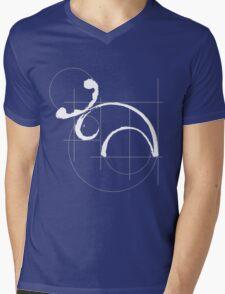 Vitruvian Moose (dark side) Mens V-Neck T-Shirt