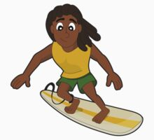 Surfer cartoon by Radka Kavalcova