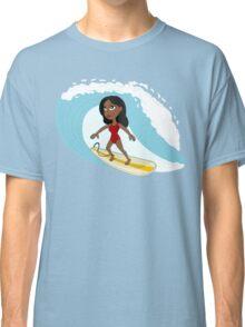 Surfer girl cartoon Classic T-Shirt