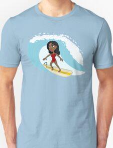 Surfer girl cartoon Unisex T-Shirt