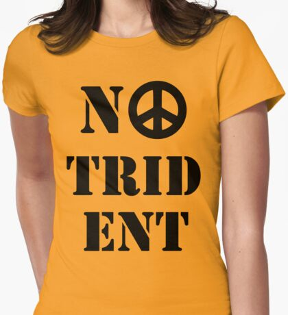 Scottish Independence No Trident  Womens Fitted T-Shirt