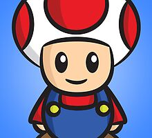 Mario Toad by Lauramazing