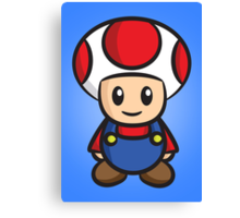 Mario Toad Canvas Print