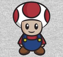 Mario Toad One Piece - Long Sleeve