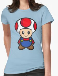 Mario Toad Womens Fitted T-Shirt