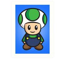 Luigi Toad Art Print
