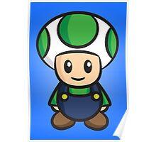 Luigi Toad Poster