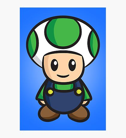 Luigi Toad Photographic Print