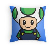 Luigi Toad Throw Pillow
