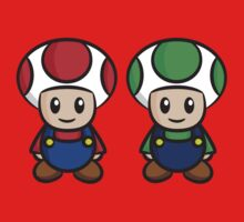 Super Mario Toads (without writing) Kids Clothes