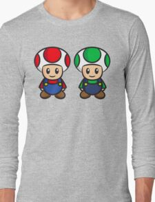 Super Mario Toads (without writing) Long Sleeve T-Shirt