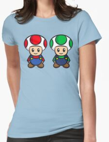 Super Mario Toads (without writing) Womens Fitted T-Shirt