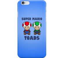 Super Mario Toads (with writing) iPhone Case/Skin