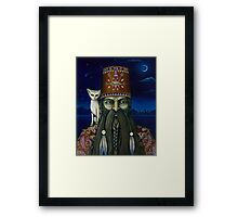 Following the Moon Paths... Framed Print