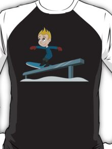 Snowboarder boy cartoon T-Shirt
