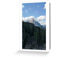 The Mountain Out of the Woods Greeting Card