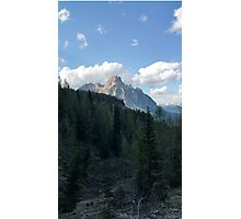 The Mountain Out of the Woods Photographic Print