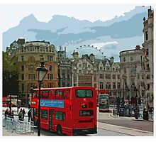 Postcards from London  Photographic Print