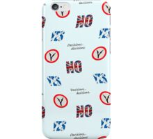 Scottish independence referendum yes or no. Wallpaper iPhone Case/Skin