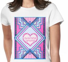 Love you patchwork gifts Womens Fitted T-Shirt