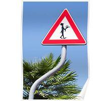 Italian Waiter Sign Poster