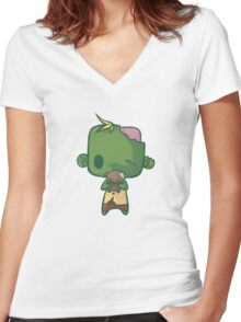 Baby Zombie Women's Fitted V-Neck T-Shirt