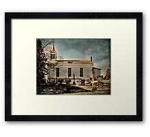 New Prospect Reformed Church and Cemetery Framed Print