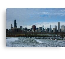 Wintry Windy City Skyline - Chicago, Illinois, USA Canvas Print