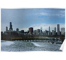 Wintry Windy City Skyline - Chicago, Illinois, USA Poster