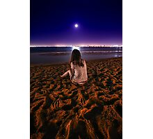 Girl by the ocean Photographic Print