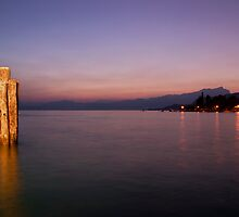 Sunset Lake Garda by Alex Wagner