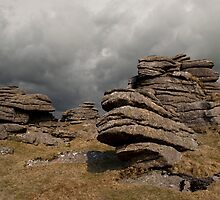 Lydford Rocks Stormy Sky by Alex Wagner
