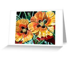 Orange Desert Flowers Greeting Card