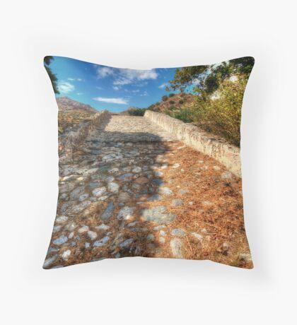 The Cretian Packhorse Bridge Throw Pillow
