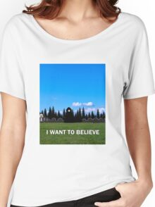 StoryBrooke - I Want To Believe Women's Relaxed Fit T-Shirt