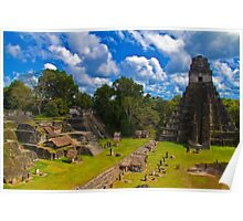 Guatemala. Tikal. The Main Plaza. Poster