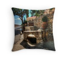 Typical Crete Scene Throw Pillow