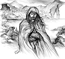 Thorin Oakenshield-pencil drawing(1) by evankart