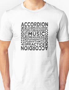 Accordion Typography T-Shirt