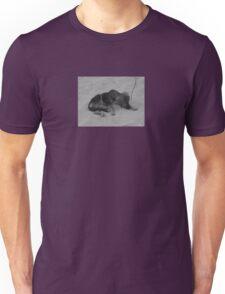 cute dog on the beach Unisex T-Shirt