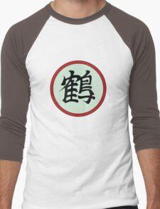 鶴 Men's Baseball ¾ T-Shirt