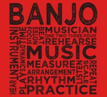Banjo Typography One Piece - Short Sleeve