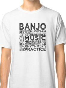 Banjo Typography Classic T-Shirt