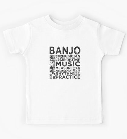 Banjo Typography Kids Tee