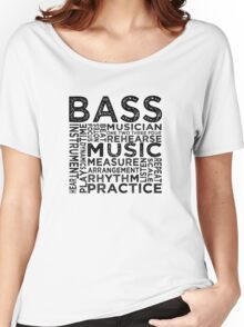 Bass Typography Women's Relaxed Fit T-Shirt
