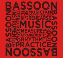 Bassoon Typography One Piece - Short Sleeve